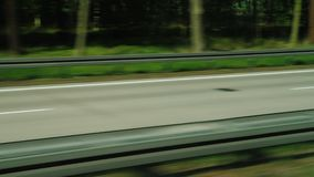 Expressway in Germany, high quality road surface. View from the window of a fast traveling bus. 4K video stock video