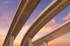 Expressway the infrastructure for transportat royalty free stock images