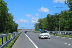 Expressway. KALININGRAD REGION, RUSSIA — JULY 21, 2014: Expressway Maritime Ring in the Kaliningrad region in the summer in July Royalty Free Stock Photography