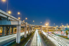 Expressway at night Royalty Free Stock Images