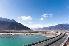 Expressway in tibet Royalty Free Stock Image