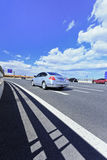 Expressway to Beijing Capital International Airport. Stock Photos