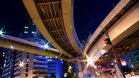 Expressway in Tokyo. Expressway running over the city of Shinjuku, Tokyo at night Stock Photography