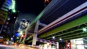 Expressway in Tokyo. Expressway running over Tokyo at night. Taken in Nishi-Azabu, Minato Ward Royalty Free Stock Images