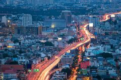 Expressway from top view stock photo