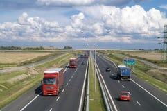 Expressway wrocław kraków Royalty Free Stock Image