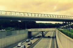 Expresweg机动车路布鲁日比利时 免版税库存图片