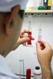 Expérience de laboratoire Photos stock