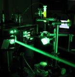 Expérience de laser Photographie stock libre de droits