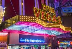 Expérience de rue de Las Vegas, Fremont Photos stock