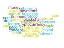 Exprima a nuvem do bitcoin, cryptocurrency, dinheiro virtual isolado ilustração royalty free