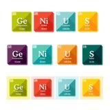 Exprima o gênio formado dos elementos da tabela periódica Fotografia de Stock
