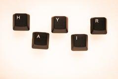 Exprima o ` NENHUM ` do ` HAYIR do significado do ` no turco escrito com chave de teclado Imagens de Stock