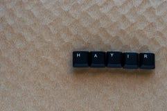 Exprima o ` NENHUM ` do ` HAYIR do significado do ` no turco escrito com chave de teclado Imagem de Stock Royalty Free