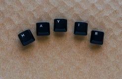 Exprima o ` NENHUM ` do ` HAYIR do significado do ` no turco escrito com chave de teclado Imagens de Stock Royalty Free