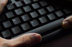 Exprima o ` NENHUM ` do ` HAYIR do significado do ` no turco escrito em um teclado em seguido foto de stock royalty free