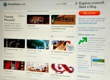 Exprima o Web site da imprensa Imagens de Stock Royalty Free