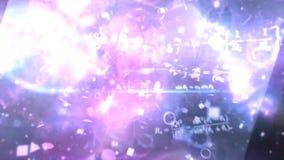 Exprime a eletricidade, magnetismo, sistema ótico Os fundos abstratos, matriz abstrata gostam do fundo Campo de estrela no espaço ilustração do vetor