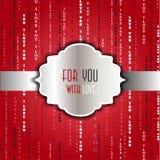 Exprime je t'aime le fond rouge Photos libres de droits