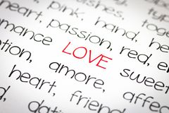 Exprimez l'amour images libres de droits