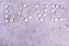Exprimez l'amour des coeurs, le placez pour le texte Photographie stock