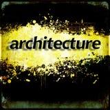 Exprimez l'architecture sur le fond grunge noir et jaune téléphone noir de récepteur de concept de transmission Image libre de droits