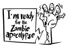 Exprimez l'expression pour le ` m d'I prêt pour l'apocalypse de zombi illustration de vecteur