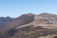 Exprimez la chanson d'amour sur Kangding sur la montagne de Zheduo Photos stock