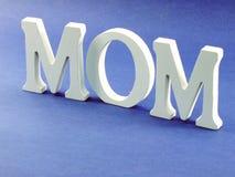 Exprimez la maman des textes avec le concept de jour de mères de fond de l'espace Image stock