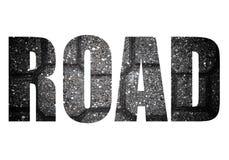 Exprimez la ROUTE au-dessus de la tuile de trottoir faite de pierres naturelles Fond photographie stock libre de droits