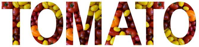 Exprimez la tomate présentée à des tomates multicolores colorées Concept sain de nourriture Produit végétarien Matières premières photo libre de droits