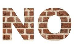 Exprimez le ` AUCUN ` avec la texture du mur de briques rouge images libres de droits