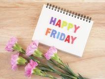 Exprimez le charme la fleur heureuse 1 de vendredi et d'oeillet Images stock