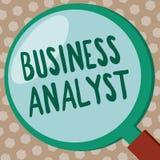 Exprimez le concept de Business d'analyste d'affaires des textes d'écriture pour quelqu'un qui analyse le grand domaine d'organis illustration de vecteur