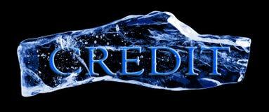 Exprimez le CRÉDIT congelé dans la glace illustration de vecteur
