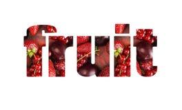 Exprimez le FRUIT composé de différents fruits et baies rouges Groseilles rouges, fraises, prunes et pêches mûres Vue supérieure  photo stock