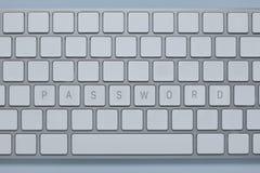 Exprimez le mot de passe sur le clavier d'ordinateur avec d'autres verrouille supprimé photos stock