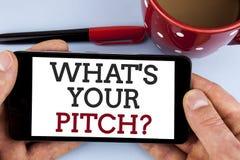 Exprimez le texte d'écriture ce qui est votre question de lancement Concept d'affaires pour la présente proposition présentant le images stock