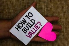 Exprimez le texte d'écriture comment établir la question de valeur Concept d'affaires pour des manières pour développer l'élevage photographie stock libre de droits