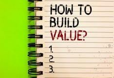 Exprimez le texte d'écriture comment établir la question de valeur Concept d'affaires pour des manières pour développer l'élevage image libre de droits