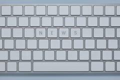 Exprimez les actualités sur le clavier d'ordinateur avec d'autres verrouille supprimé photo stock