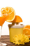 Exprimidor anaranjado Fotografía de archivo libre de regalías