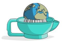 Exprimidor del globo Fotos de archivo libres de regalías