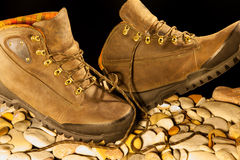 Exptreme protection boots Stock Photo