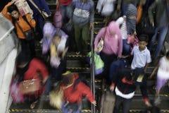 Expulsión Eid Fitr People a Jakarta Fotografía de archivo
