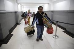 Expulsión Eid Fitr People a Jakarta Imágenes de archivo libres de regalías