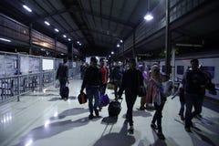 Expulsión Eid Fitr People a Jakarta Fotos de archivo