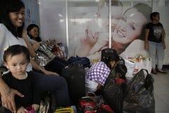 Expulsión Eid Fitr People a Jakarta Foto de archivo libre de regalías