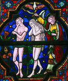 Expulsion of Adam and Eve from Paradise Stock Photo
