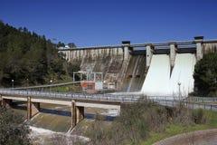 Expulsion of water after heavy rains in the embalse de Puente Nuevo Royalty Free Stock Photos
